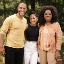 DeVon Franklin, Meagan Good and Oprah Winfrey