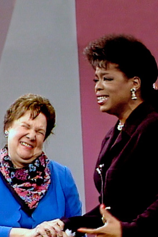 Oprah with Mary Duncan, her fourth-grade teacher