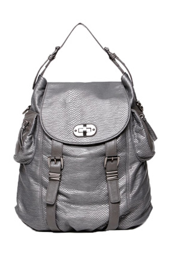 Olivia and Joy silver backpack