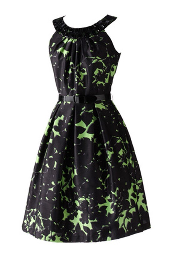 A-line Melonie leaf-print dress