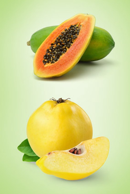 papaya and quince
