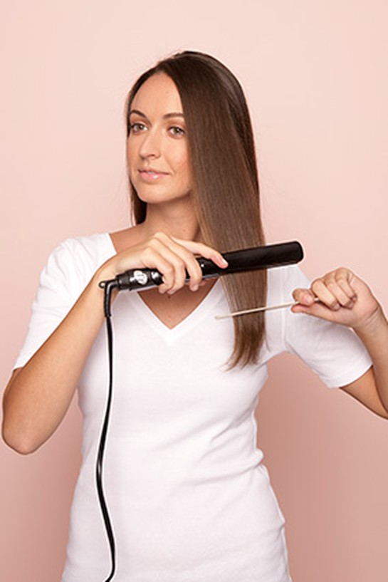 Straightening hair - step 5