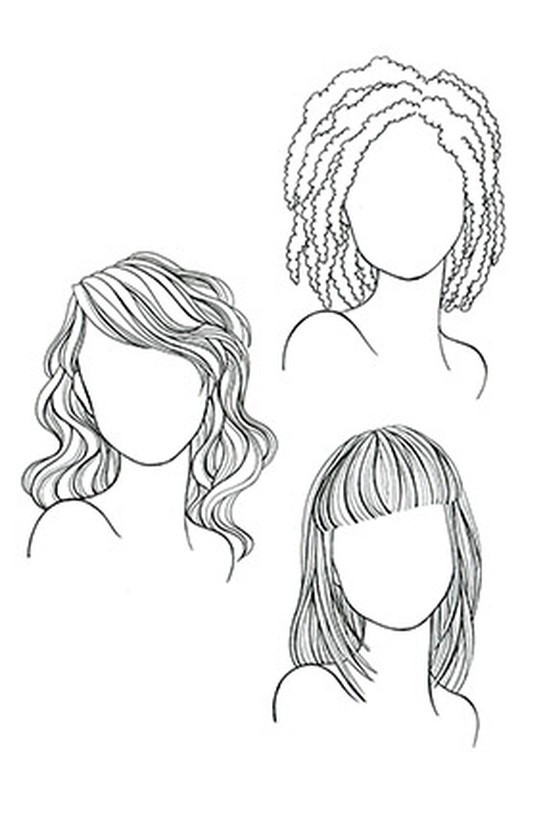 Face shapes and hairstyles