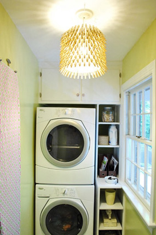 laundry room DIY lamp from Young House Love