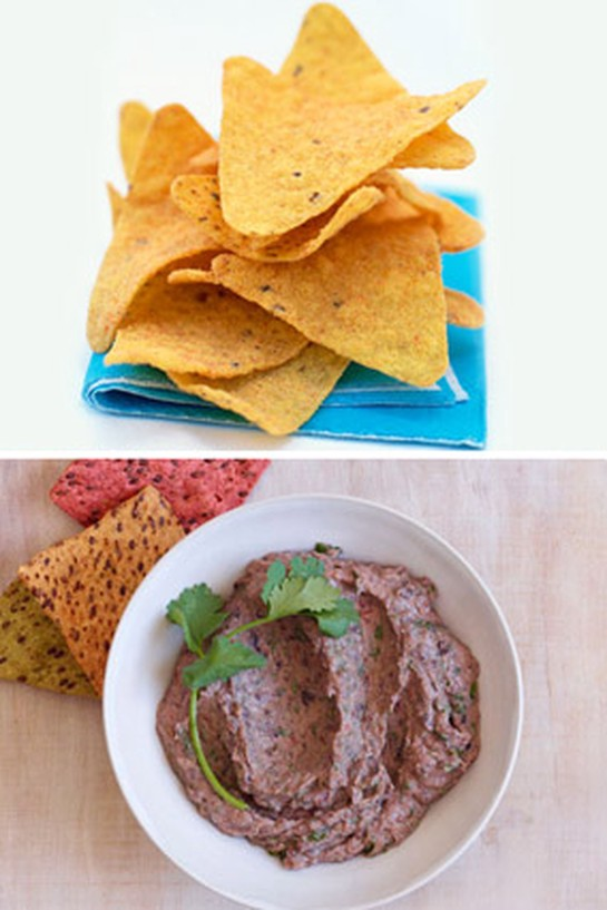 Tortilla Chips + Black Bean Dip