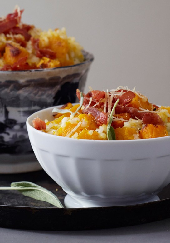 "Baked ""Risotto"" with Butternut Squash, Sage and Parmigiano"