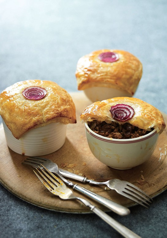 Beef and Caramelized Onion Pies