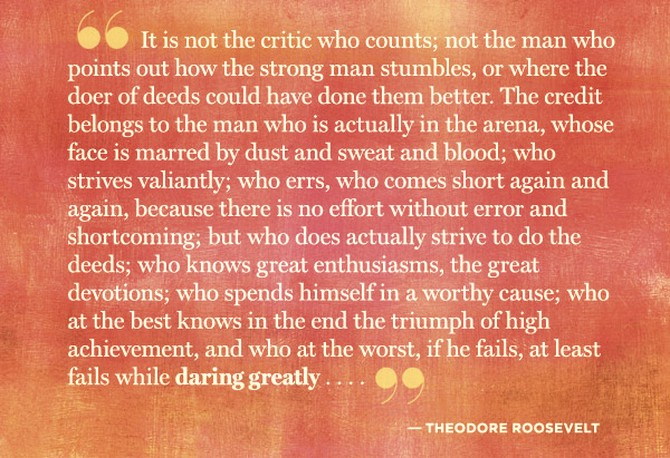 Image result for brene brown theodore roosevelt quote