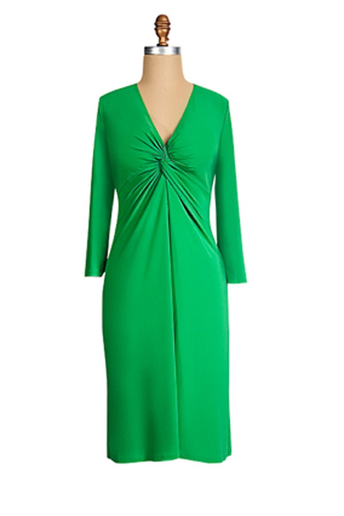 Tiana B Green Dress
