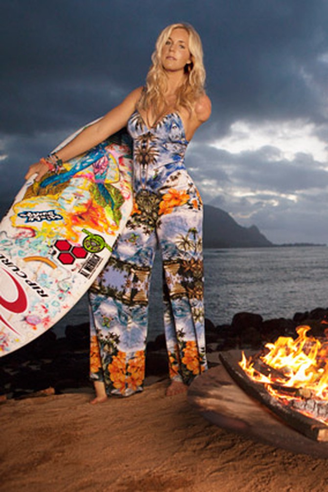 Female Surfers Model Surf Inspired Fashion