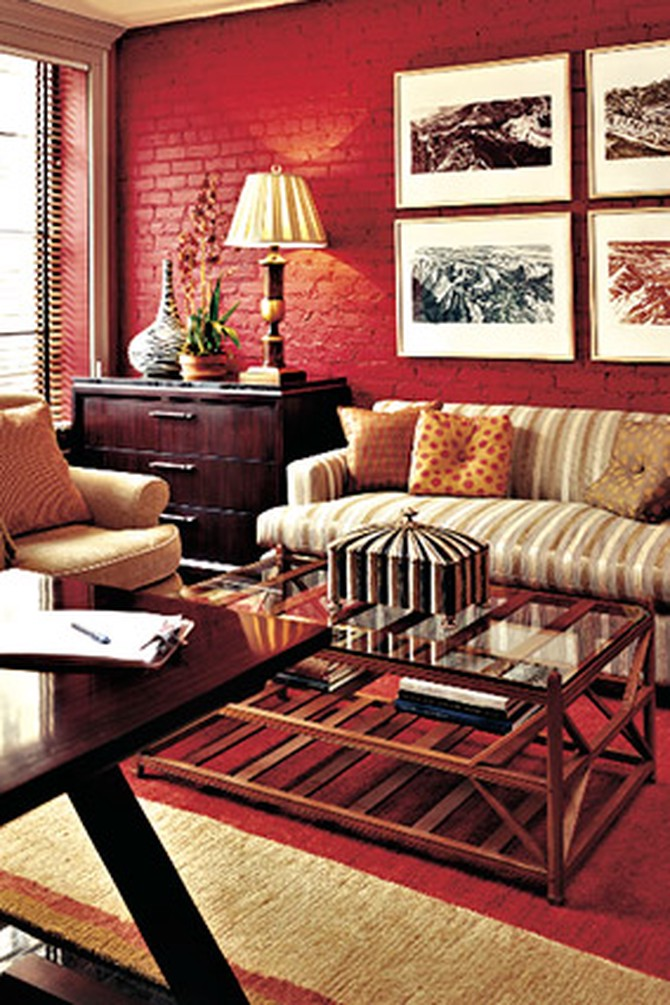 Decorating with Red Orange and Pink - Red Rooms