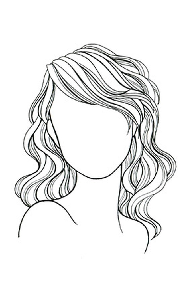 This is a graphic of Monster Drawing Wavy Hair