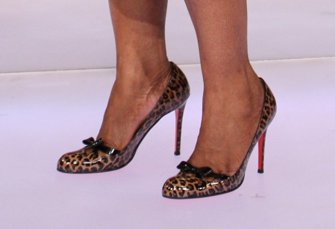 4d0386a3f988 Oprah s leopard-print Louboutins