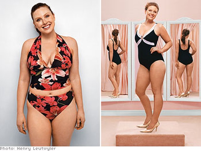 2143866725f10 How Not to Look Fat in a Swimsuit - Swimwear Makeovers