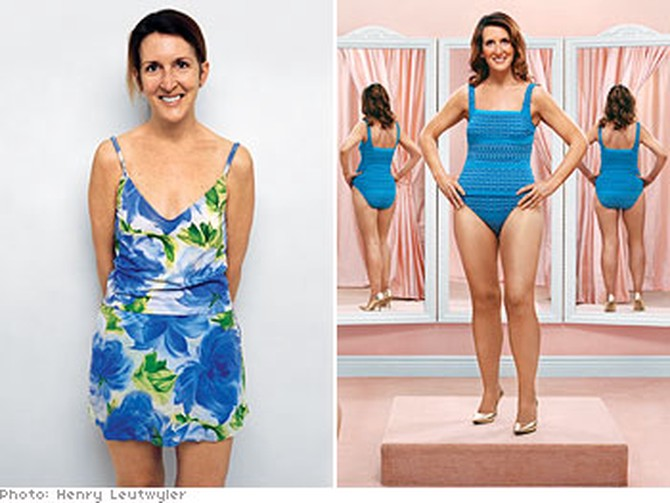 3723334dca How Not to Look Fat in a Swimsuit - Swimwear Makeovers