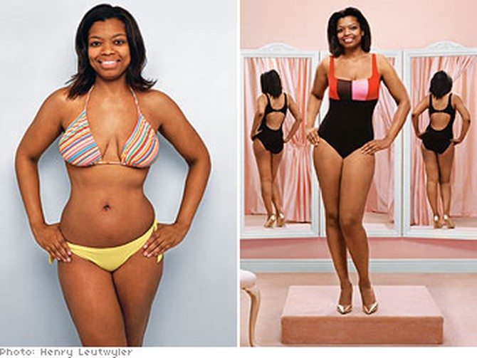 606ab282b22 How Not to Look Fat in a Swimsuit - Swimwear Makeovers
