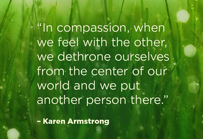 karen armstrong quotes on compassion the ego and the divine