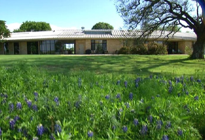 Laura Bush S Ranch Says She And The President Designed House