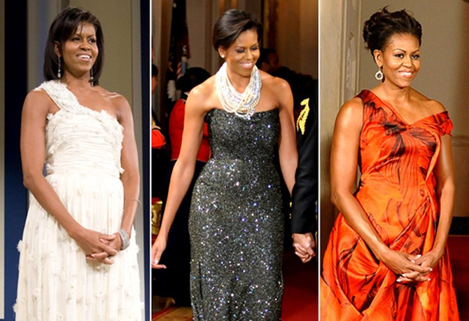 e3ff3bb3bfe93 Michelle Obama's style - gowns from black-tie events