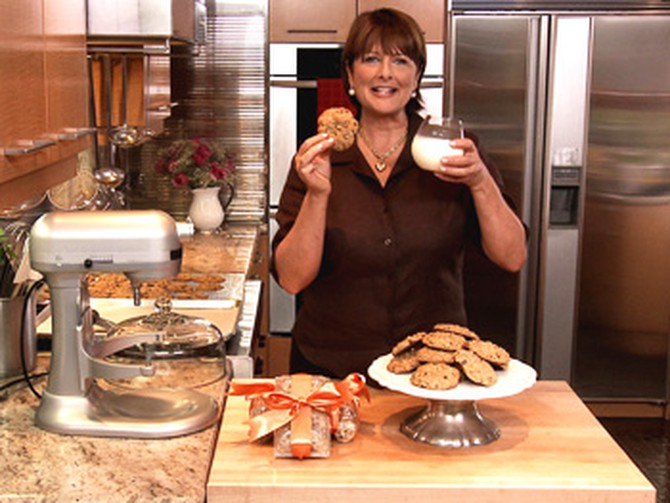 Cristina Ferrare making chocolate chip cookies