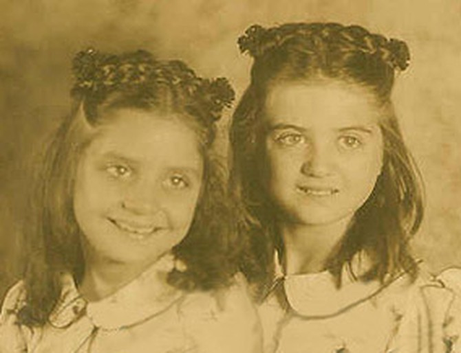 Barbara Walters and her sister Jackie as children