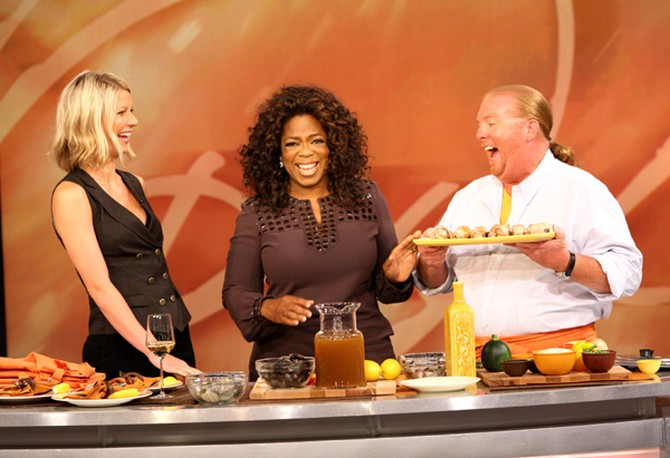 Oprah, Mario Batali and Gwyneth Paltrow