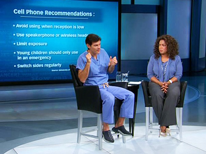 Dr. Oz explains how to protect yourself from possible harm caused by exposure to cell phones.