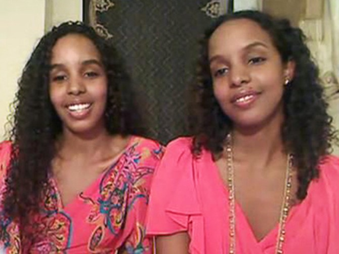 Ayaan and Idyl, twin sisters from Brooklyn, New York
