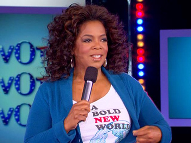 Oprah says if you haven't voted, Turn off your TV!