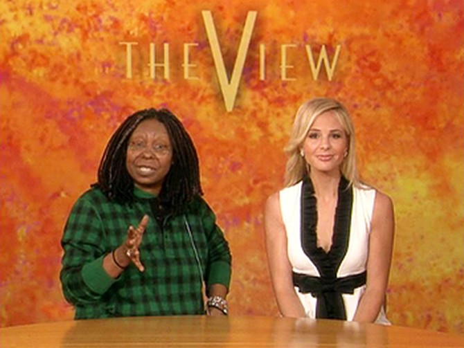 Elisabeth Hasselbeck and Whoopi Goldberg