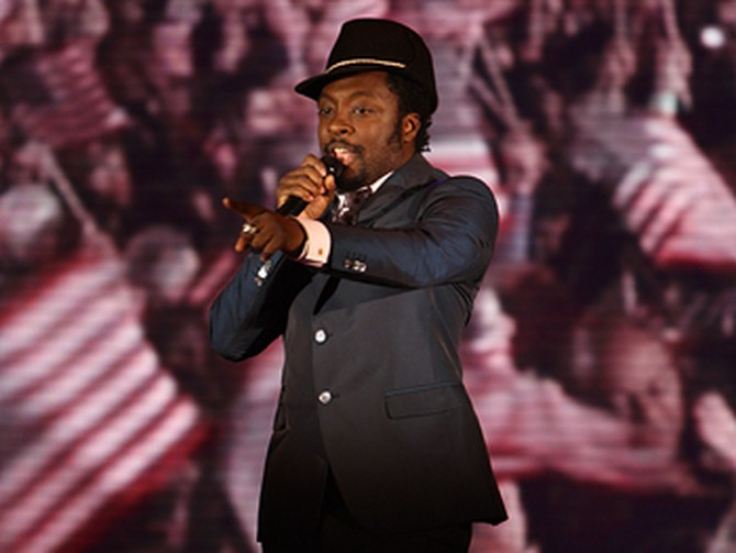 will.i.am performs.