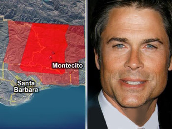 Rob Lowe and the Montecito fires