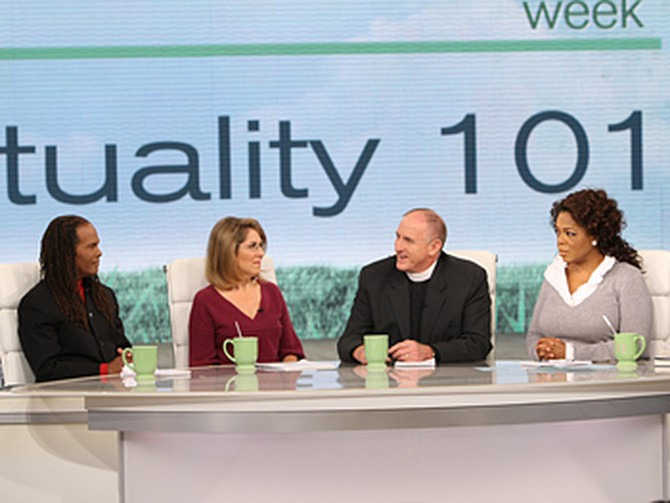The Rev. Dr. Michael Beckwith, Elizabeth Lesser, the Rev. Ed Bacon and Oprah