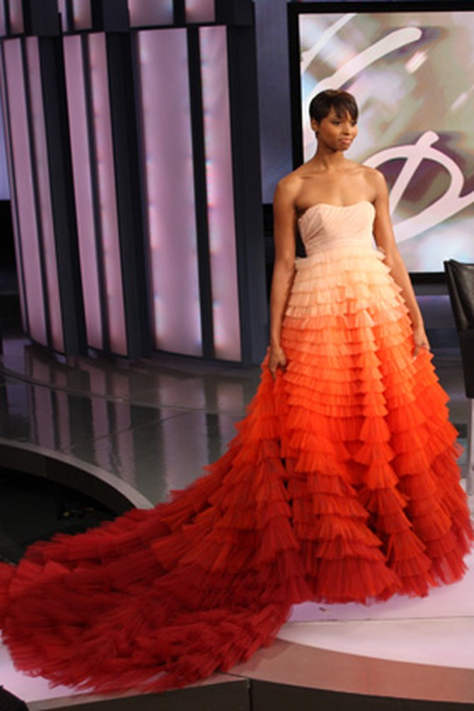 Christian Siriano's lace gown