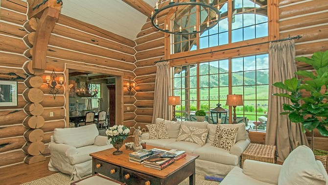 Log-cabin home - Photo by Gordon Wiltsie