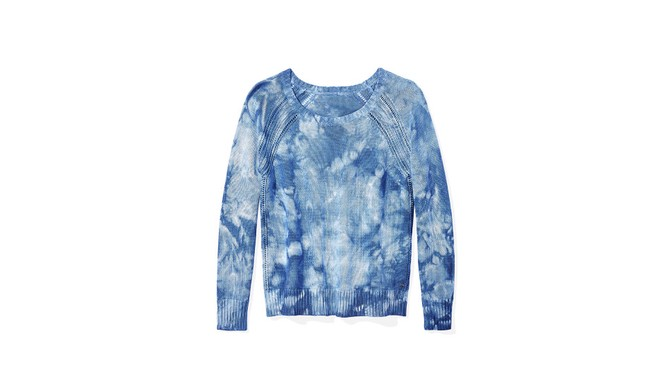 tie-dyed sweater