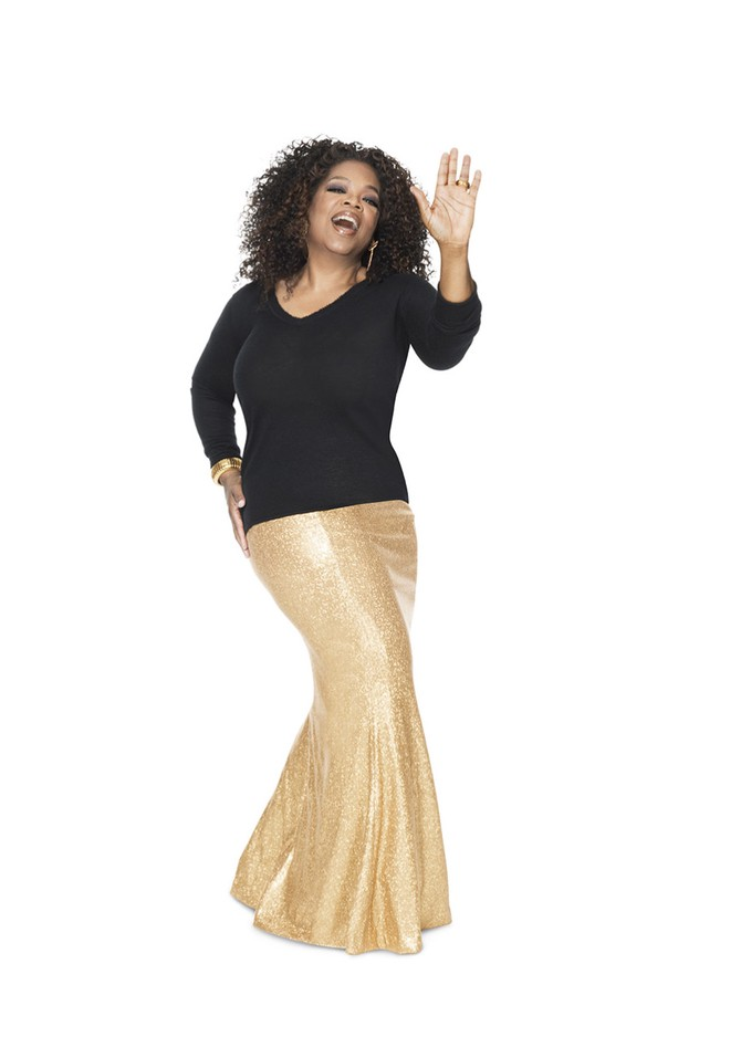 oprah gold skirt