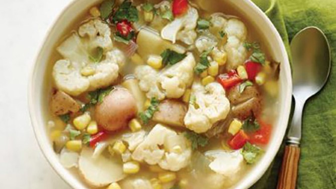 cauliflower corn soup