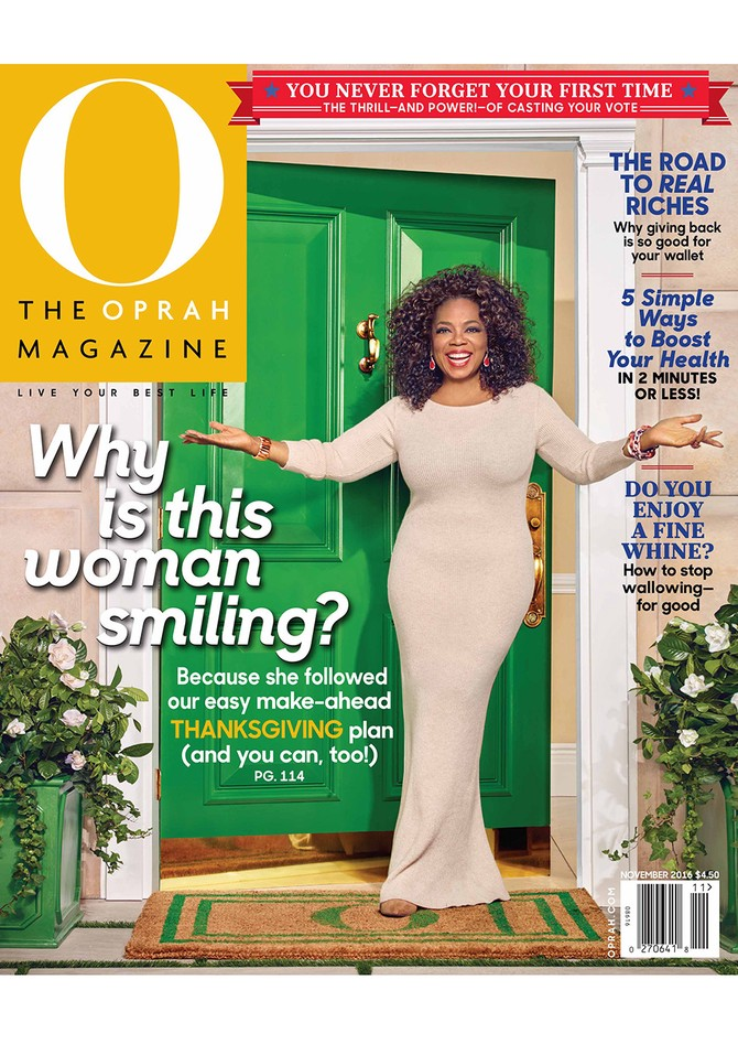 Oprah Behind the Scenes November 2016 Cover