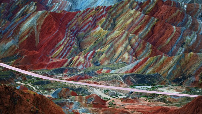 rainbow mountains china most beautiful places in the world