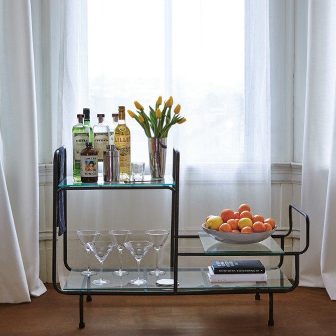 vodka bar cart