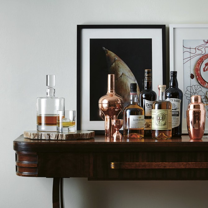 whiskey bar cart