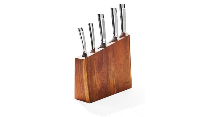 1 Series Six-Piece Knife and Acacia Block Set