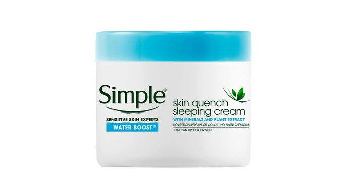 Simple Water Boost Skin Quench Sleeping Cream