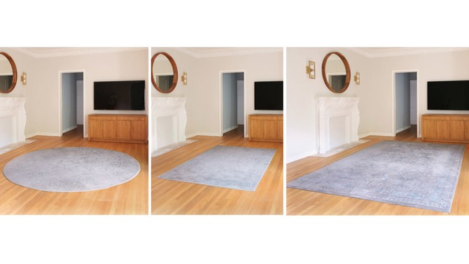 three rug composite