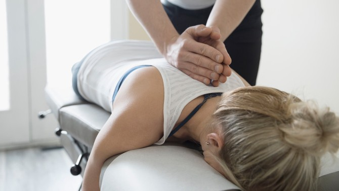 Woman getting a professional massage