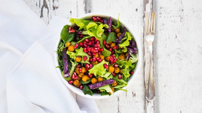 Healthy and colorful salad