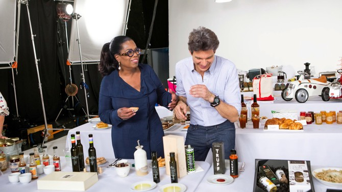 Oprah and Adam taste-test truffle products