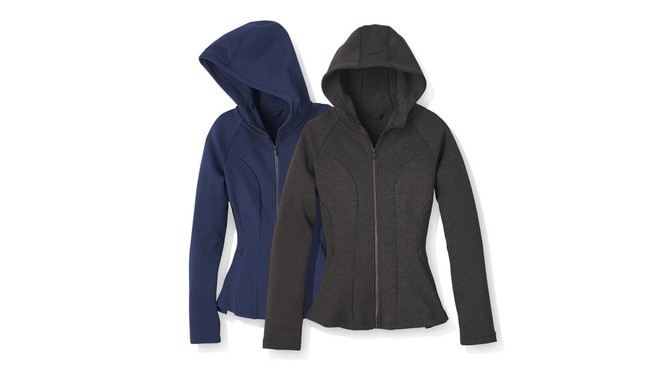 Core 10 women's motion tech fleece peplum full-zip hoodie jackets