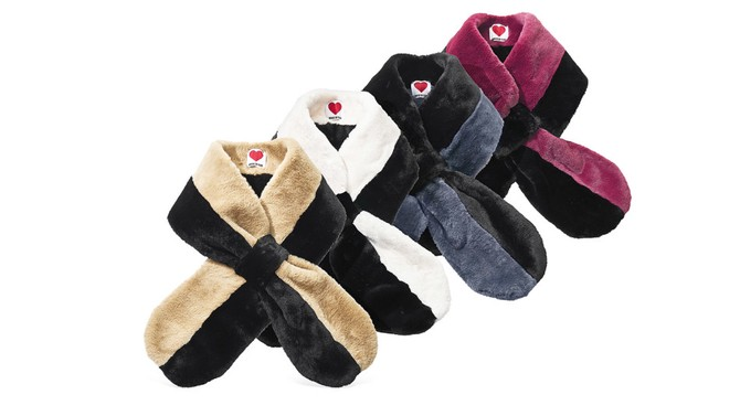 Plush Teddy pull-through scarves